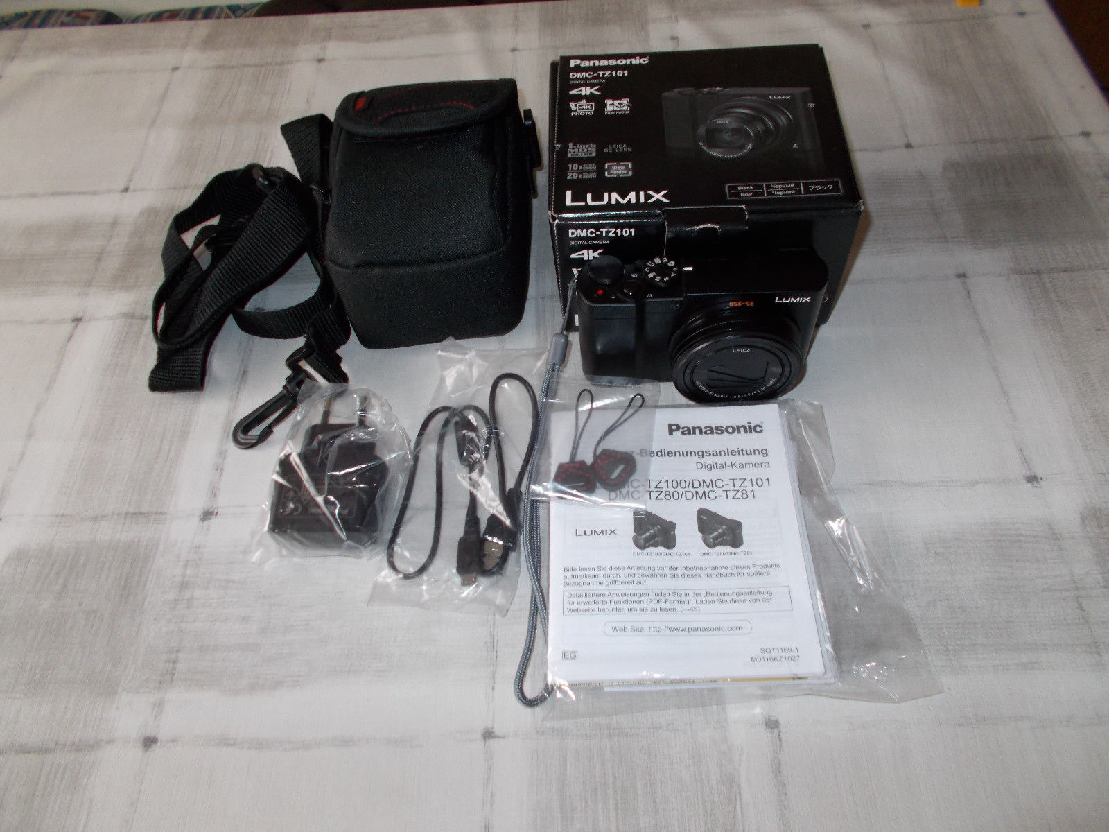 Panasonic Lumix DMC-TZ101 EGK in schwarz ( wenig benutzt, wie neu)