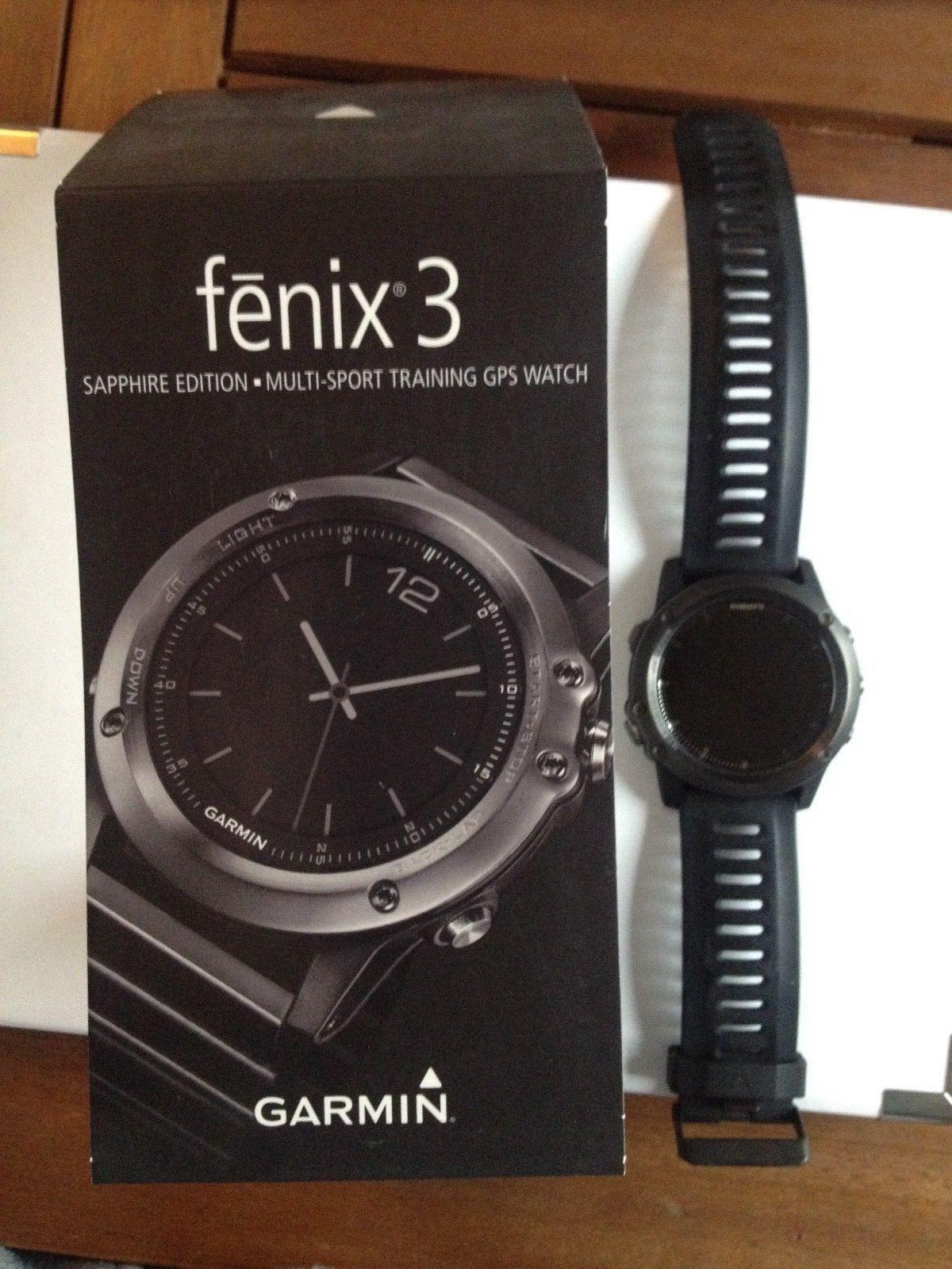 Garmin fenix® 3 GPS-Multisport-Uhr, schwarz, Ersatzarmbänder
