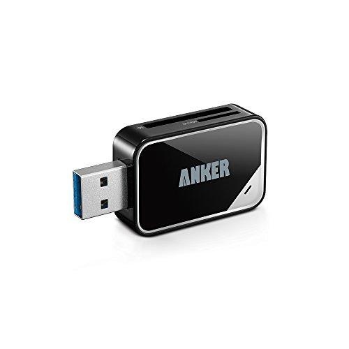Anker USB 3.0 SD/TF 2-Slot Kartenleser Card Reader Kartenlesegerät 8-in-1 für SDXC, SDHC, SD, MMC, RS-MMC, Micro SDXC, Micro SD, Micro SDHC Karte, unterstützt UHS-I Karten