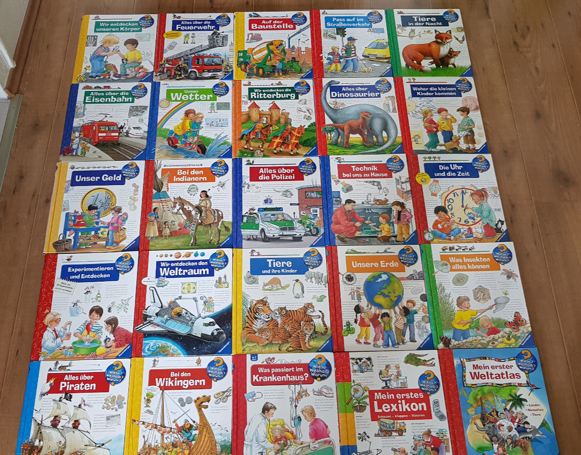 25 Bücher Wieso Weshalb Warum Sammlung von Ravensburger als Paket