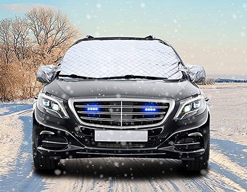 Auto Windschutzscheibe Frostabdeckung, Schnee, Eis, Frost & Sonnenblende Schutzfolie Abdeckung aller Wetter Scheibenschutz-Größe 199 * 91 cm