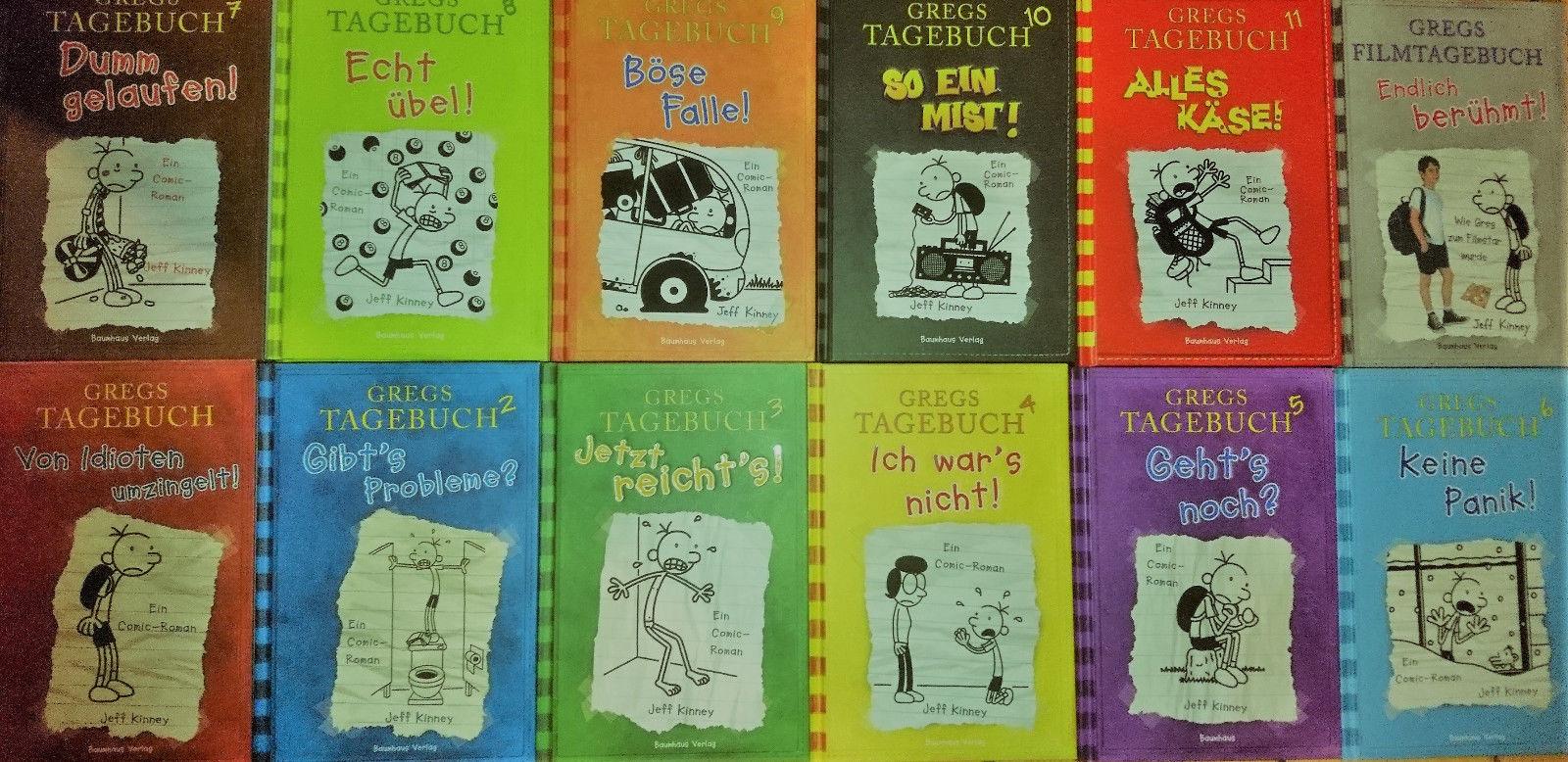 Gregs Tagebuch Band 1 bis 11 + Gregs Filmtagebuch(gebundene Ausgaben)