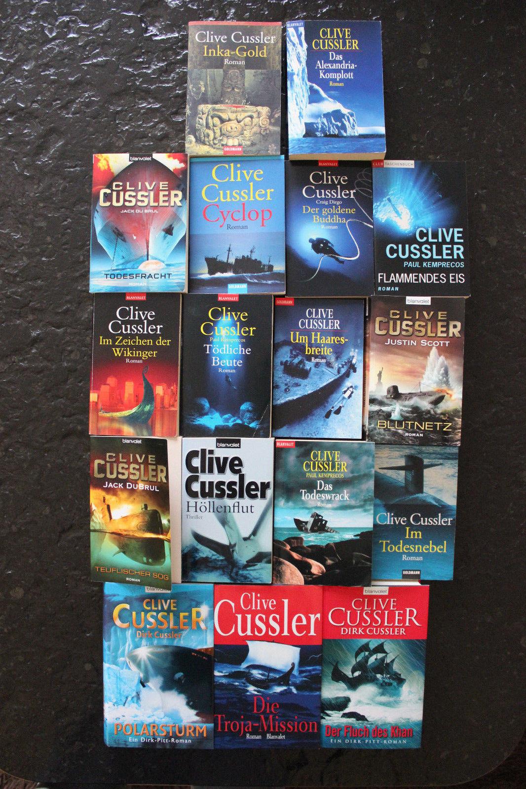 Clive Cussler 17 Bücher Romane Krimi Thriller Psychothriller - Top Titel