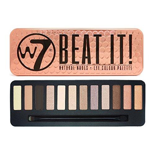 W7 Beat It! Natural Nudes Eye Colour Palette, 1er Pack (1 x 172 g)