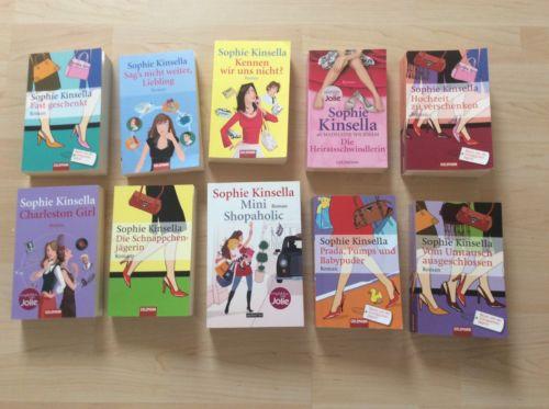 Sophie Kinsella - 10 Bücher! Top Zustand, Bücherpaket