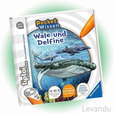 RAVENSBURGER tiptoi® Buch - Pocket Wissen - Wale und Delfine - NEU