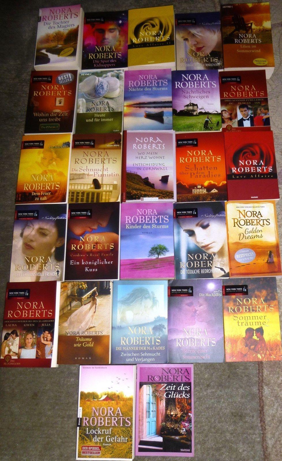 Nora Roberts, 60 Bücher, 71 Romane, diverse Verlage,  Hardcover/Taschenbuch