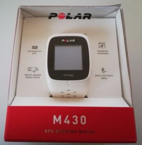 Polar M430 GPS-Laufuhr Pulsuhr weiß inkl. OVP, ohne Ladekabel