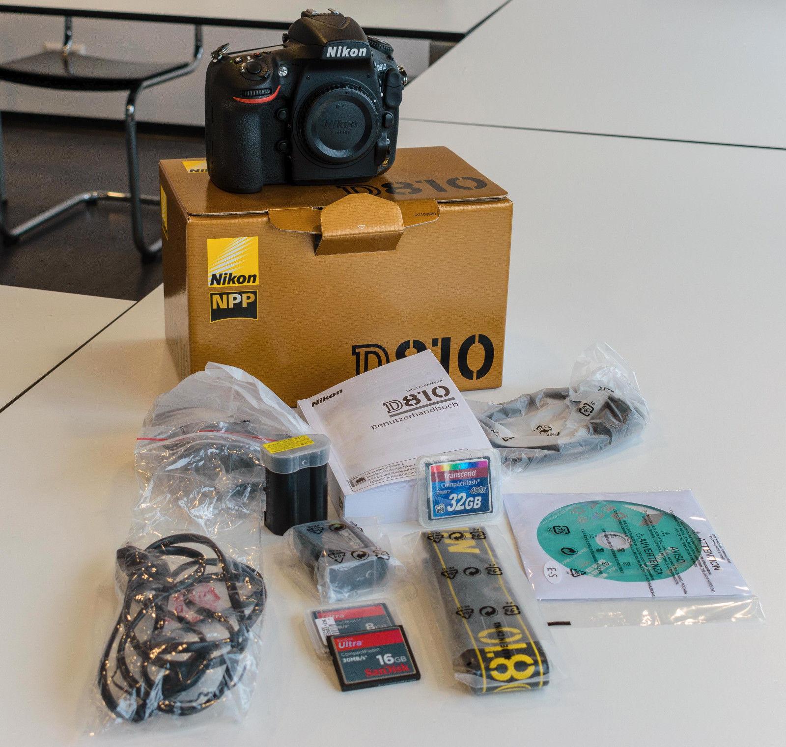 Nikon D810 36.3MP Digitalkamera - OVP, ca. 8330 Auslösungen