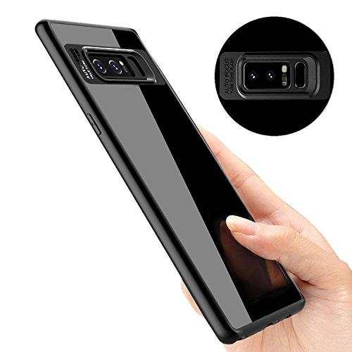 Samsung Galaxy Note 8 Handyhülle, ikalula Kratzfeste Galaxy Note8 TPU Schutzhülle Anti-Shock Hülle Ultra-thin Bumper Case für Samsung Galaxy Note8 - Schwarz