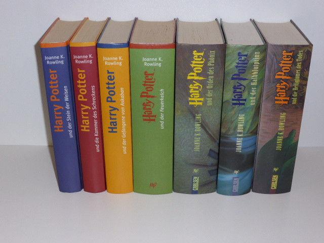 Harry Potter alle 7 Bücher, gebunden, TOP Zustand