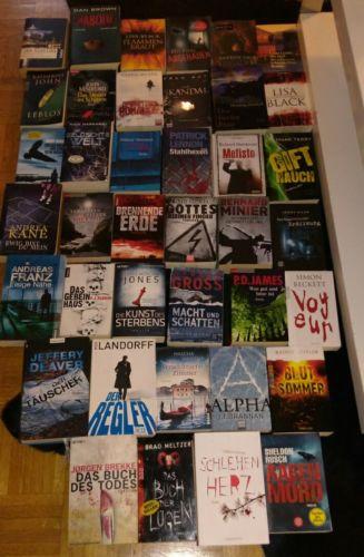 40 Thriller Psychothriller Bücher Bücherpaket TB + Gebunden Top!!