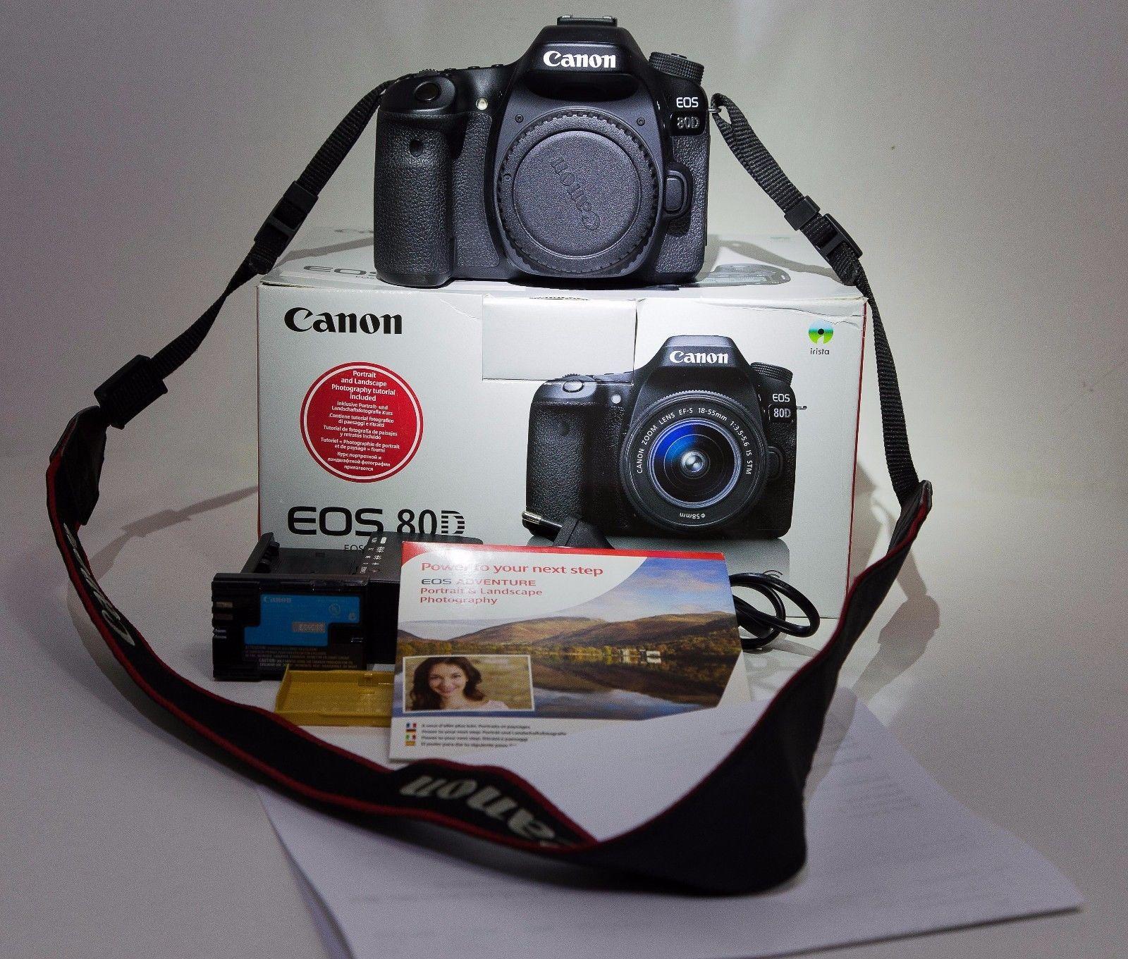 Canon EOS 80D 24.2 MP SLR-Digitalkamera - (Nur Gehäuse) top mit Restgarantie