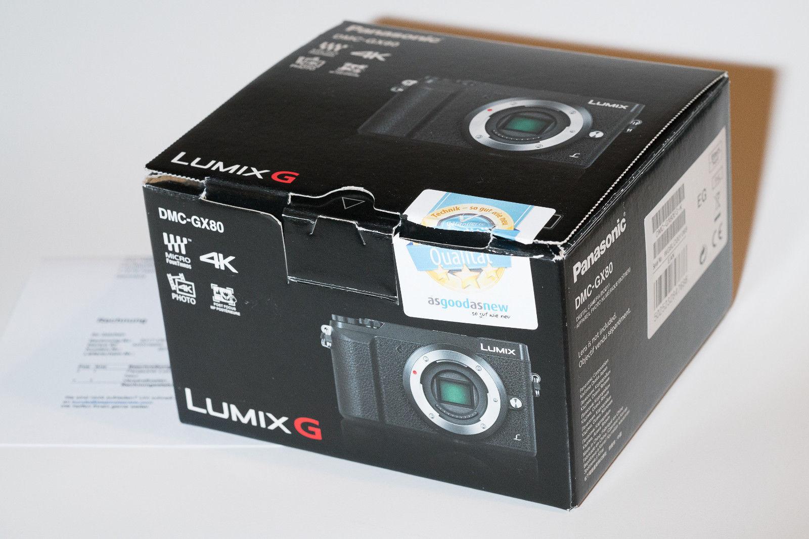 Panasonic DMC- Gx80 Lumix G sehr gut top, Rechnung