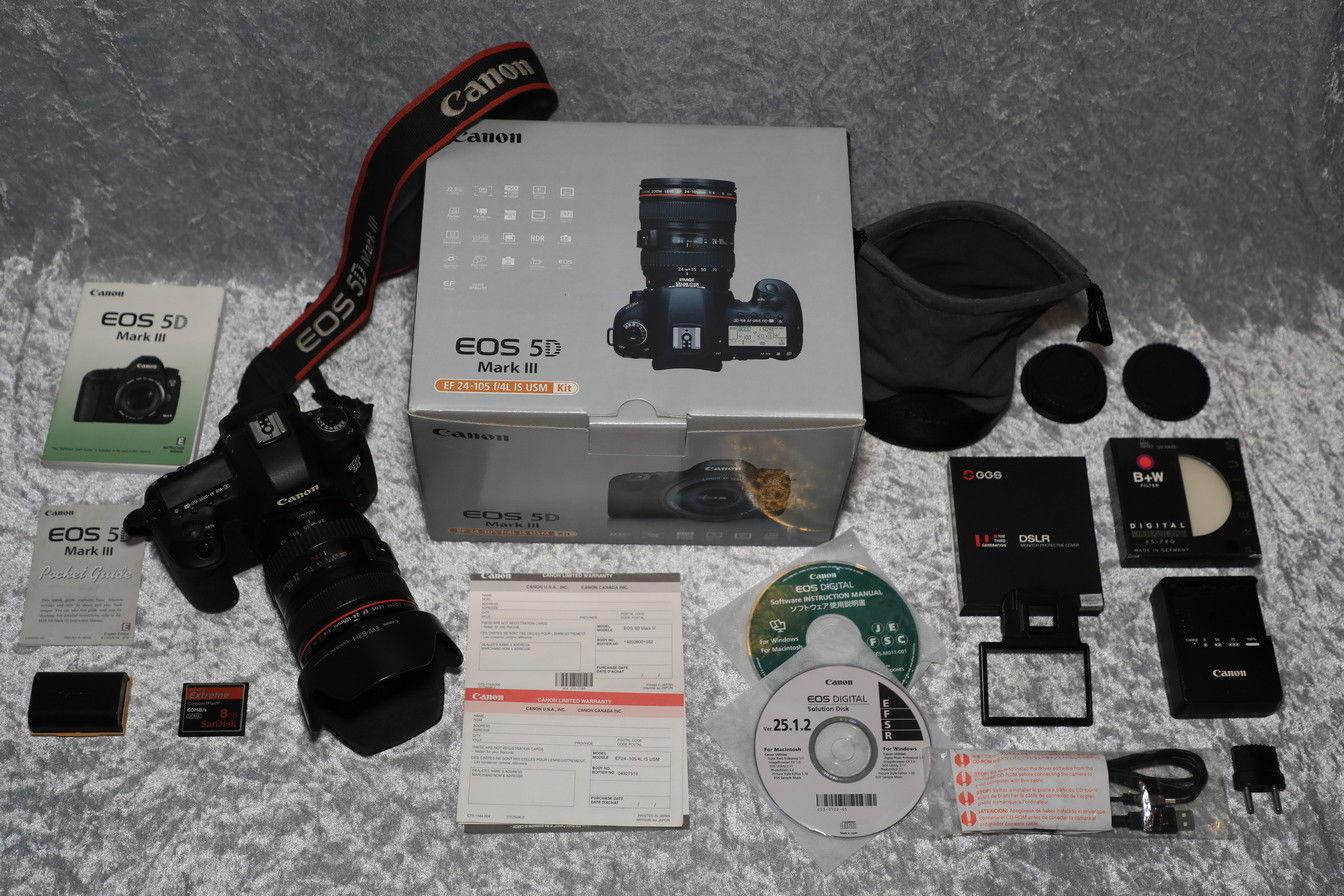 Canon EOS 5D Mark III 22.3 MP SLR-Digitalkamera - Schwarz (Kit m/ EF 24-105mm f/