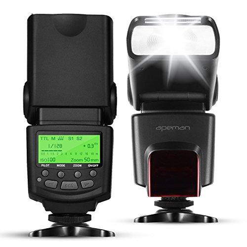 APEMAN E-TTL Speedlite Blitzgerät Blitz für Canon, Unterstützt M / MULTI / S1 / S2 Blitzmodus, LCD Bildschirm, Multifunktionales Portables Paket. Kompatibel mit Canon DSLR Kamera
