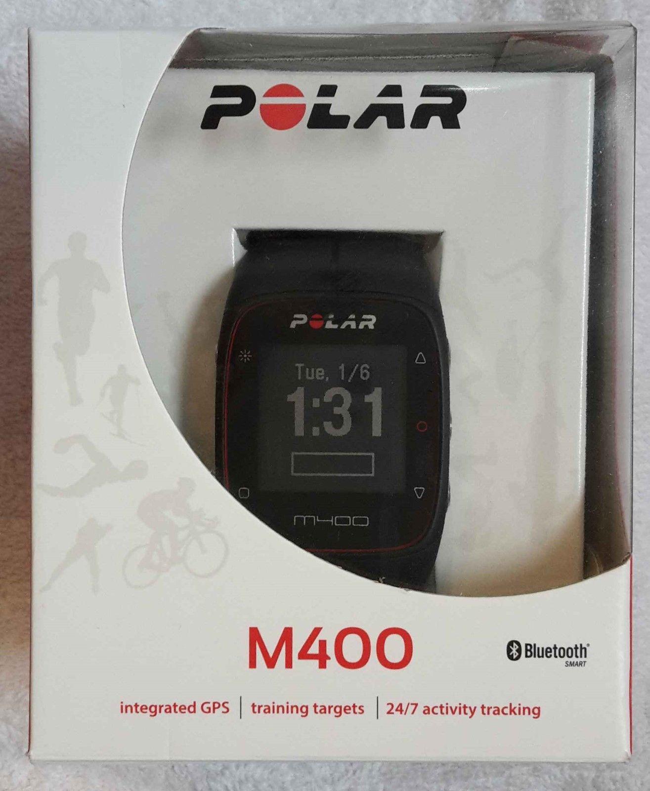 POLAR M400 - Pulsuhr - GPS Laufuhr - Trainingscomputer - Schwarz -ohne Brustgurt