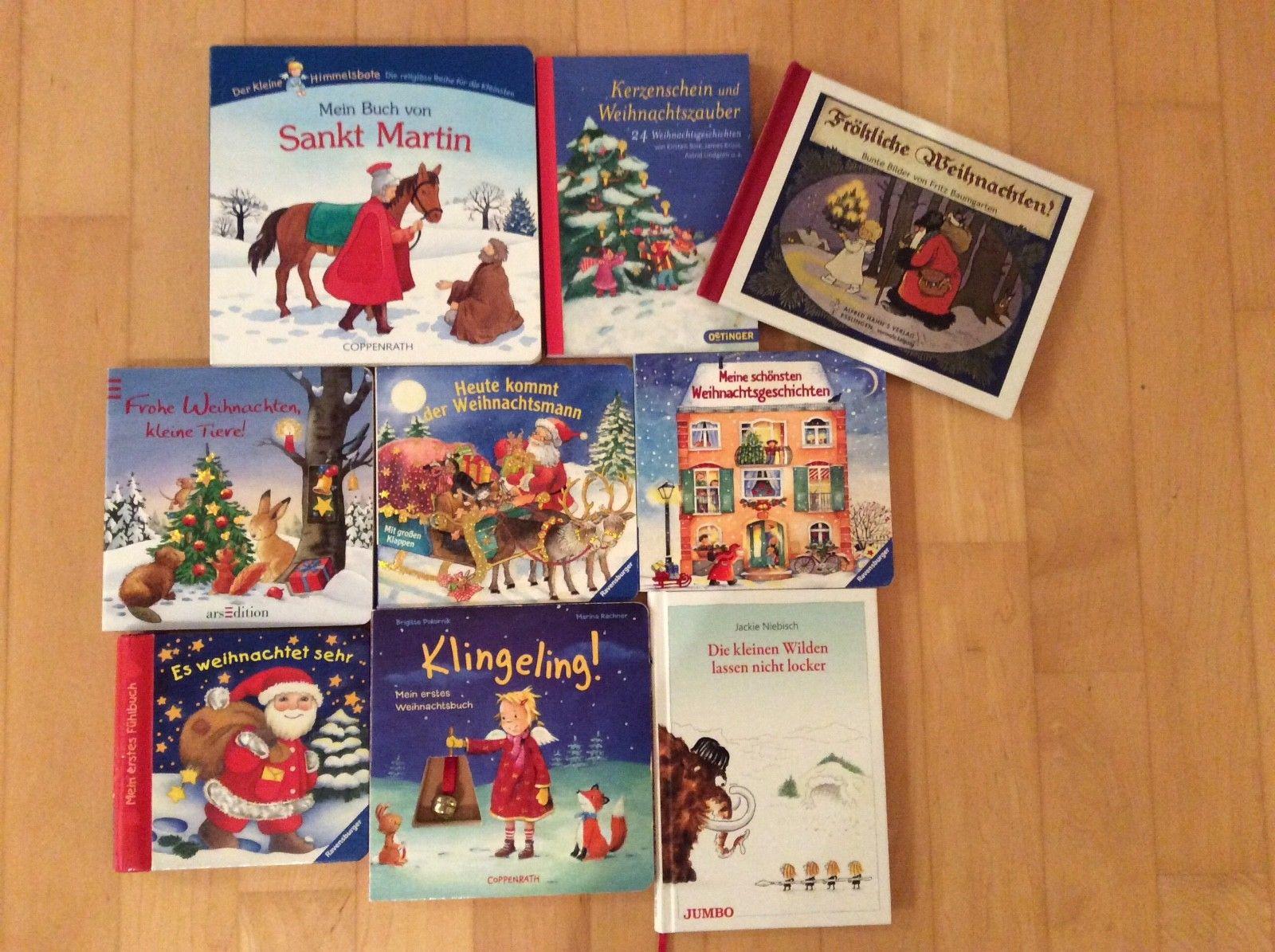 Kinderbuecher Paket Weihnachtsbücher Bilder- und Vorlesebücher 9 Stück