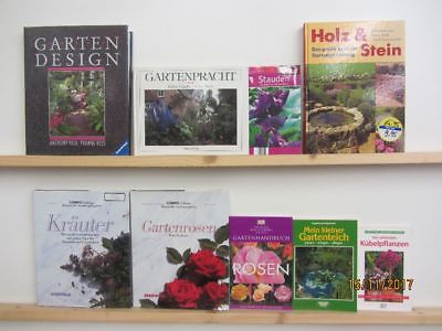 42 Bücher Garten gärtnern Gartengestaltung Gartenpflege Gartenkunst
