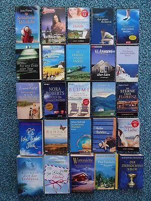 Bücherpaket 25 Liebesromane Frauenromane: Glattauer Ahern Sparks Picoult Sebold