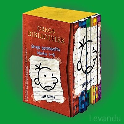 GREGS TAGEBUCH 1-5   JEFF KINNEY   Band 1+2+3+4+5 als Hardcover im Schuber - NEU