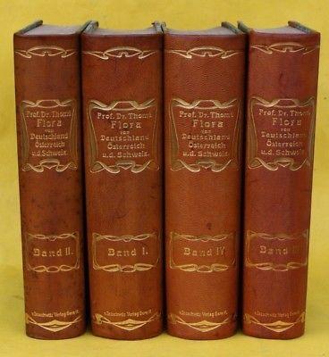 THOME`S FLORA VON DEUTSCHLAND,OESTERREICH & SCHWEIZ,4 BÄNDE,616 FARBTAFELN,1903