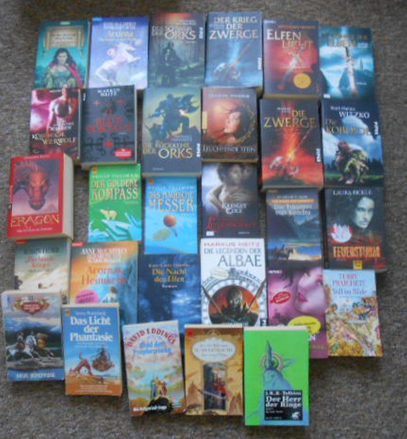 Buchpaket mit 29  Fantasy-Romanen, TB und geb. Ausgaben