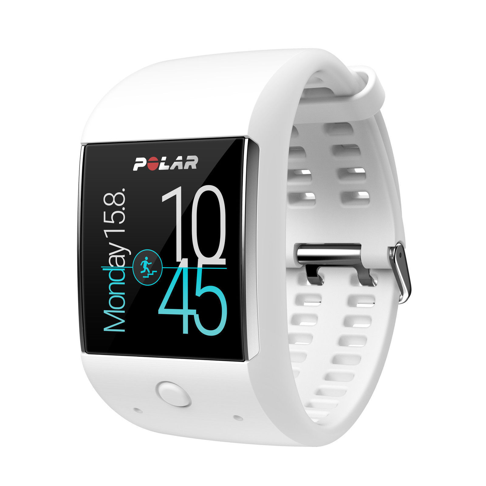 Polar M600 Fitness Smartwatch Weiß Android Wear GPS Pulsuhr Sportuhr M/L NEU