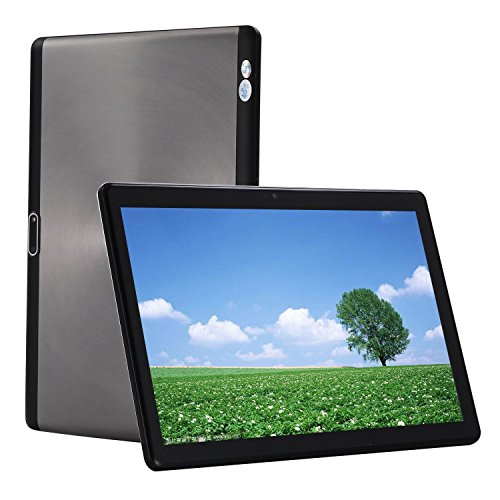 Android 7.0 Tablet 4G Network 10.1 Inch PC 8 Core 1920x1200 HD IPS Display 4G+64G 10 Tablets 3G/4G Phone Call Dual SIM Card 8.0MP Wifi Bluetooth GPS electronic 789(Black)