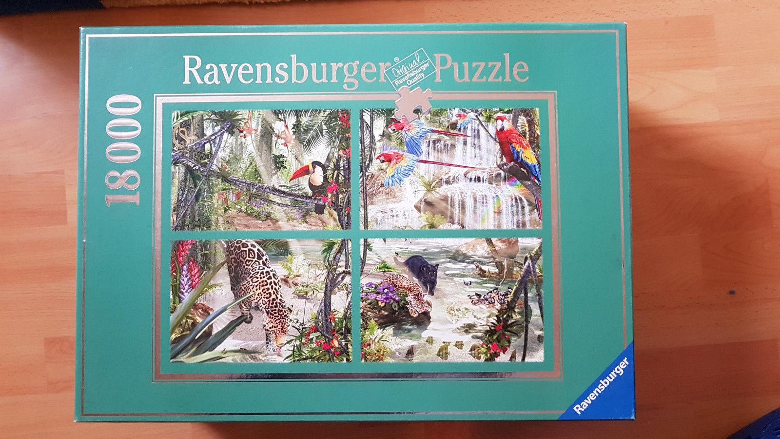 Ravensburger Puzzle 18000 Teile, Tropische Impressionen, David Penfound, Rarität