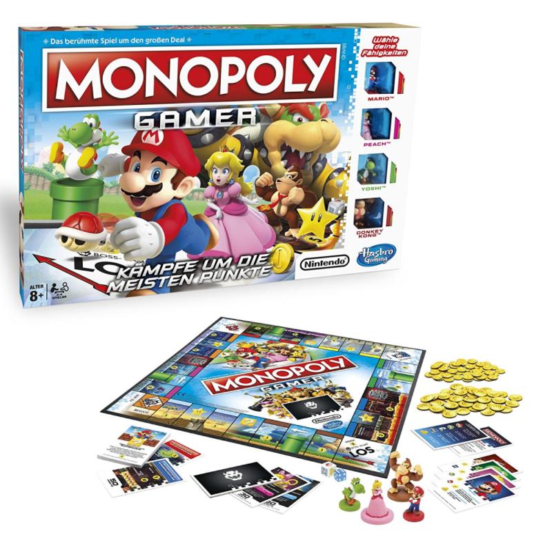 Hasbro Monopoly C1815100 Monopoly Gamer - Mario Edition, Familienspiel