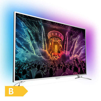 Philips 123cm 49 Zoll Ultra HD 4K LED Fernseher 3-fach Ambilight Android DVB-T2