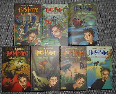 HARRY POTTER - Bände 1 bis 7 komplett - gebunden - gebraucht, aber TOP Zustand