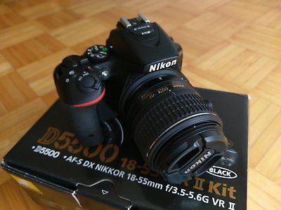Nikon D D5500 24.2 MP SLR-Digitalkamera - Schwarz (Kit m/ AF-S DX 18-55mm...