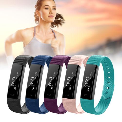 Sport Schrittzähler Smart Armband Uhr Aktivitätsband Bluetooth Tracker AC718