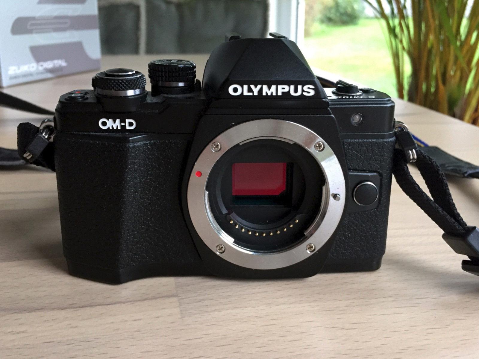 Olympus OM-D E-M10 Mark II Digitalkamera MFT, schwarz