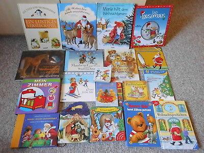 18 Bilderbücher & 1 CD Buchpaket Kinder Weihnachten Maulwurf Leo Lausemaus u.a.