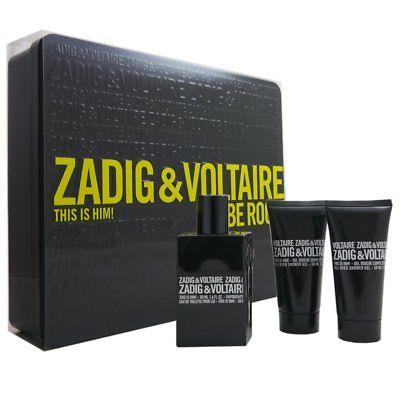 Zadig & Voltaire This is Him Set 50ml Eau de Toilette EDT & 2 x 50ml Showergel