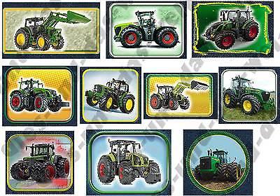 ? TOP Traktor Traktoren Applikationen FLICKEN Aufnäher f. Jungen - 10 Stück NEU