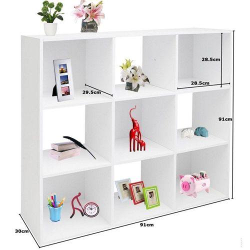 Raumteiler 9 Fächer Weiß - Bücherregal Regal Standregal Aktenregal Wandregal DE