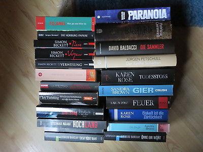 Bücherpaket Konvolut Krimi und Thriller