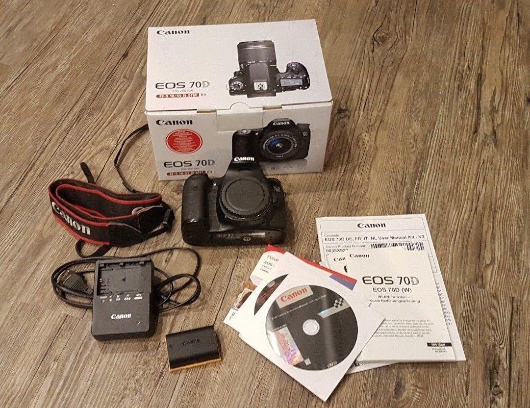 Canon EOS 70D 20.2 MP SLR-Digitalkamera - Schwarz (Nur Gehäuse)