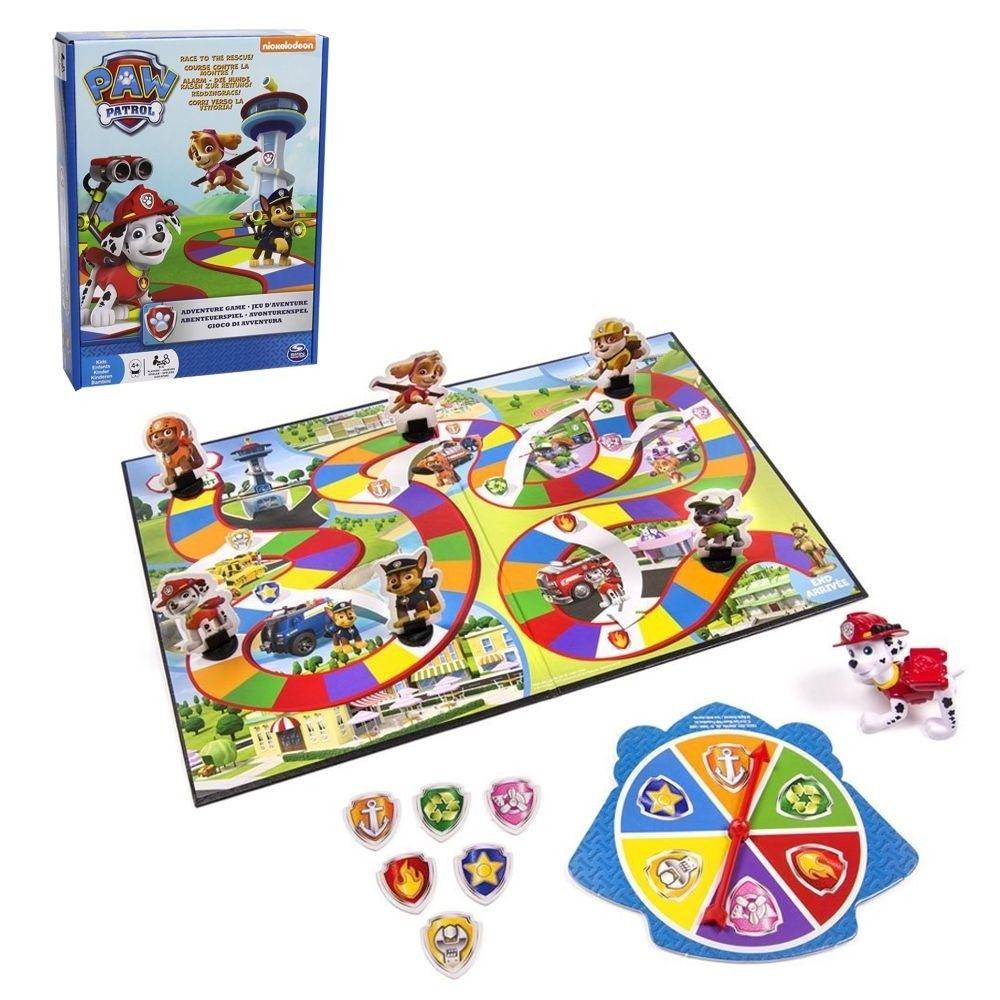 Paw Patrol - Kinder Spiel Familienspiel - Brettspiel Abenteuer Rettung