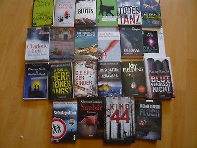 22 Bücher Krimis und Thriller (Friedrich Ani, Tess Gerritsen, Charlotte Link...)