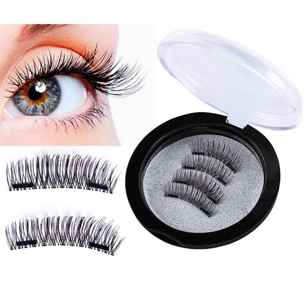 XL 3D Magnet Wimpern mit 2 Magneten Magnetische künstliche Wimpern Eyelashes NEU