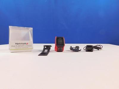 TomTom GPS Sportuhr Multisport Cardio, Red/Black, One size