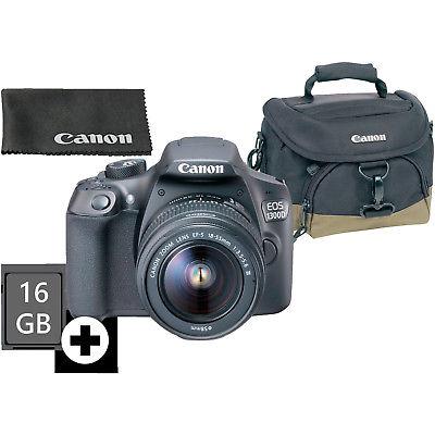 CANON EOS 1300D Kit Spiegelreflexkamera inkl. 18-55 mm Objektiv+ Kameratasche 10