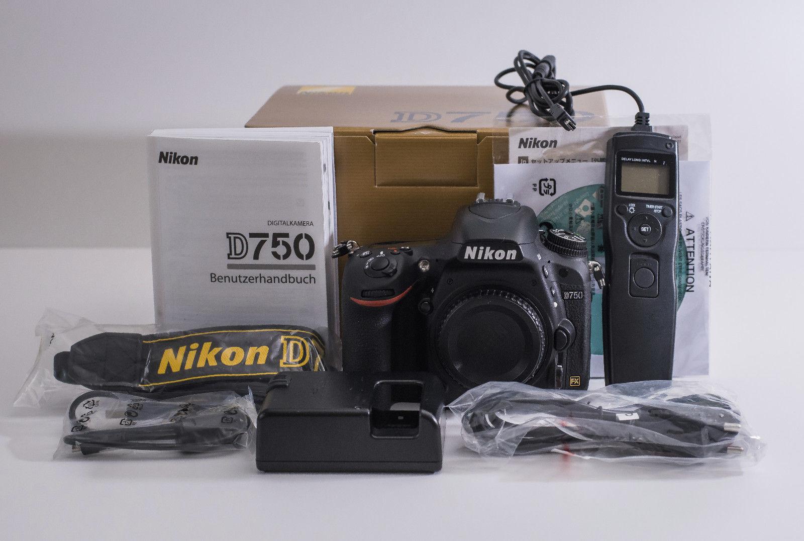 Nikon D750 24.3 MP SLR-Digitalkamera ein Jahr ALT!