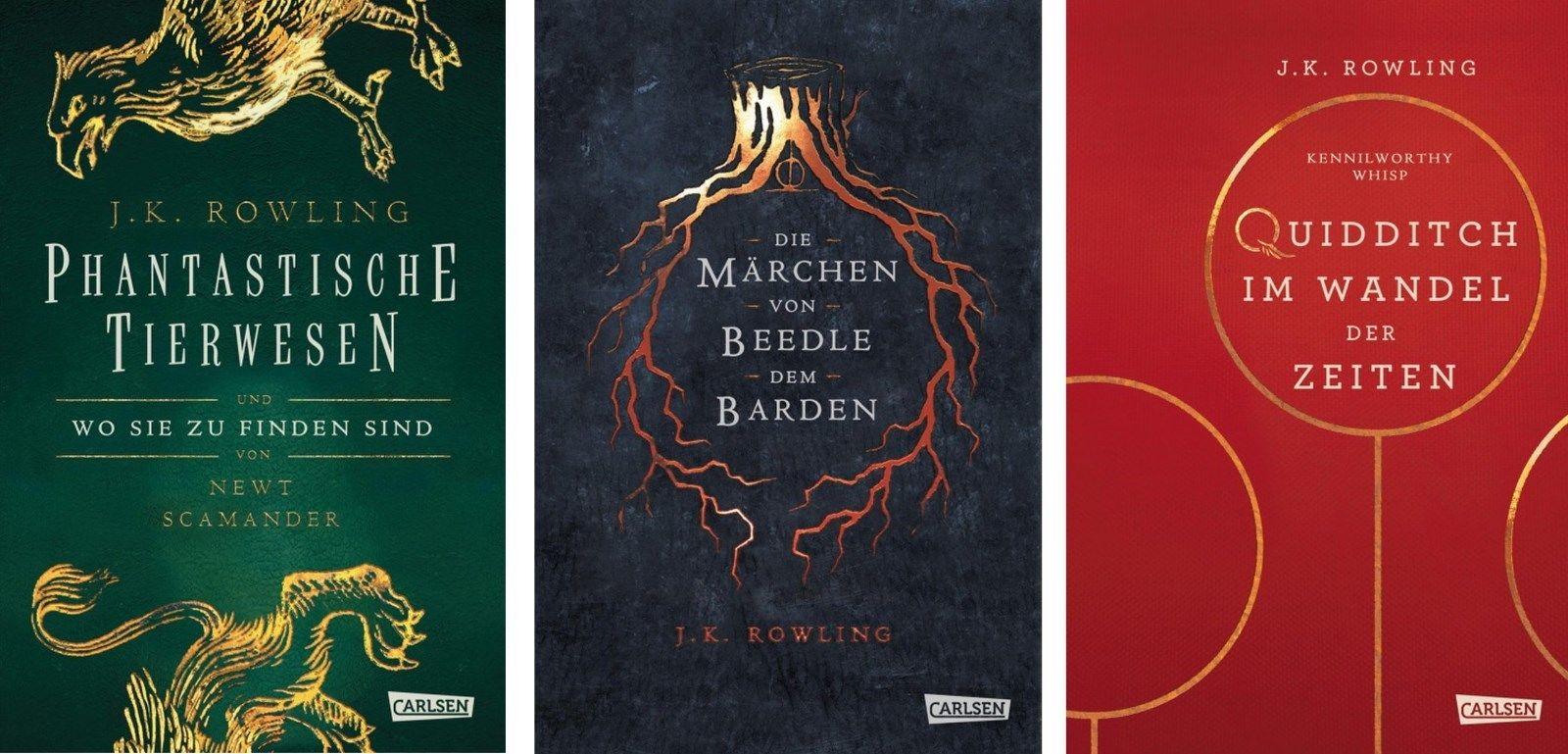 Hogwarts Schulbücher von J. K. Rowling (Harry Potter) 3 Bände im Set (Gebunden)