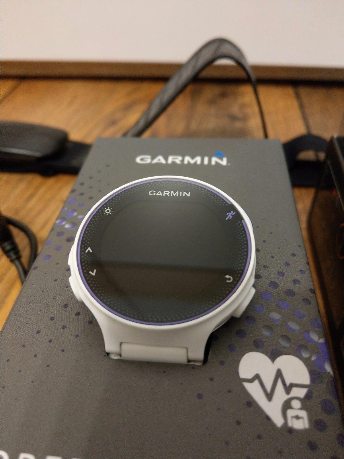 Garmin Forerunner 230 GPS-Laufuhr (weiß) mit HR-Brustgurt